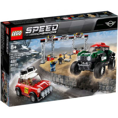 LEGO Speed champions Mini Cooper S Rally 1967 et 2018 Mini John Cooper Works Buggy 2019