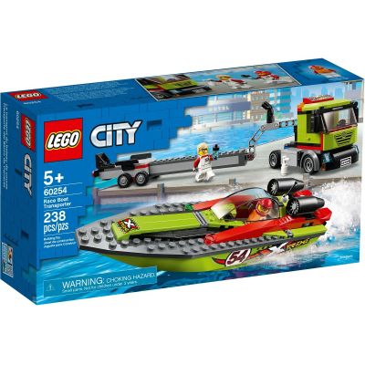 LEGO CITY Le transport du bateau de course 2020