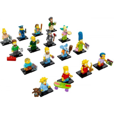 LEGO MINIFIG SIMPSONS 1 serie Complete 16 minifig 2014