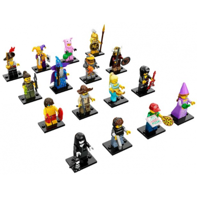 LEGO MINIFIGS SERIE 12 -Serie Complete 16 minifgs 2014