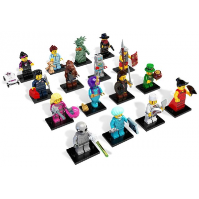 LEGO MINIFIGS SERIE 06 Serie complete (16 minifigs) 2012