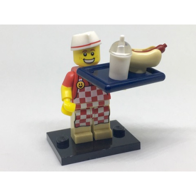 LEGO MINIFIG SERIE 17 MONSIEUR HOT DOG 2017