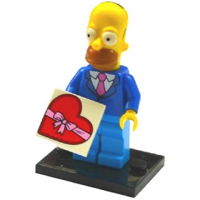 LEGO MINIFIG SIMPSONS 2 HOMER SIMPSON AVEC CRAVATE ET MANTEAU 2015