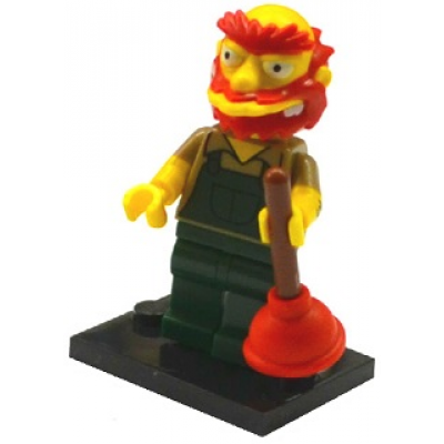 LEGO MINIFIG SIMPSONS 2 Gardien de parc Willie 2015