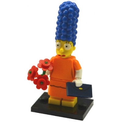 LEGO MINIFIG SIMPSONS 2 MARGE SIMPSON AVEC ROBE ORANGE 2015