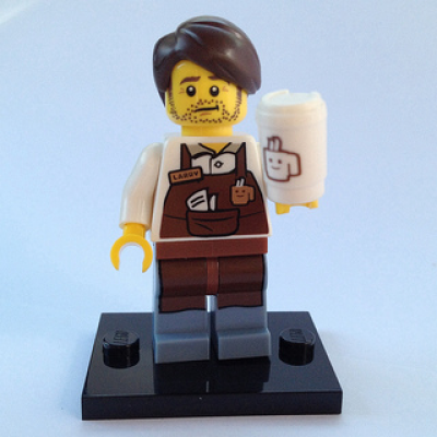 LEGO MINIFIGS LEGO MOVIE LARRY LE BARISTA 2014