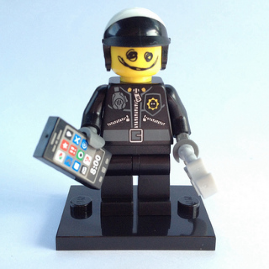 LEGO MINIFIGS LEGO MOVIE SCRIBBLE FACE BAD COP 2014