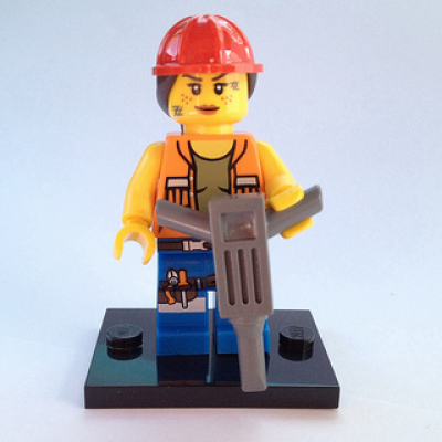 LEGO MINIFIGS LEGO MOVIE GAIL LA FILLE DE LA CONSTRUCTION 2014