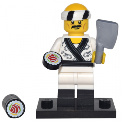 LEGO MINIFIGS SERIE NINJAGO MOVIE Sushi Chef 2017