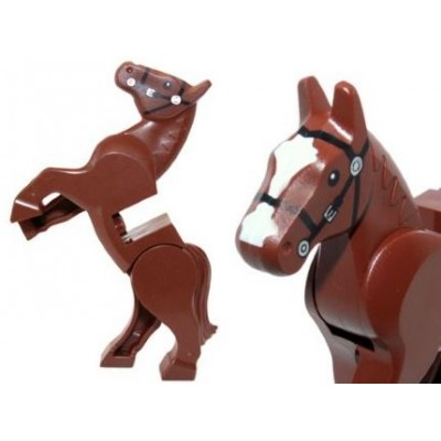 LEGO MINIFIG LEGO MOVIE Cheval brun rougeâtre