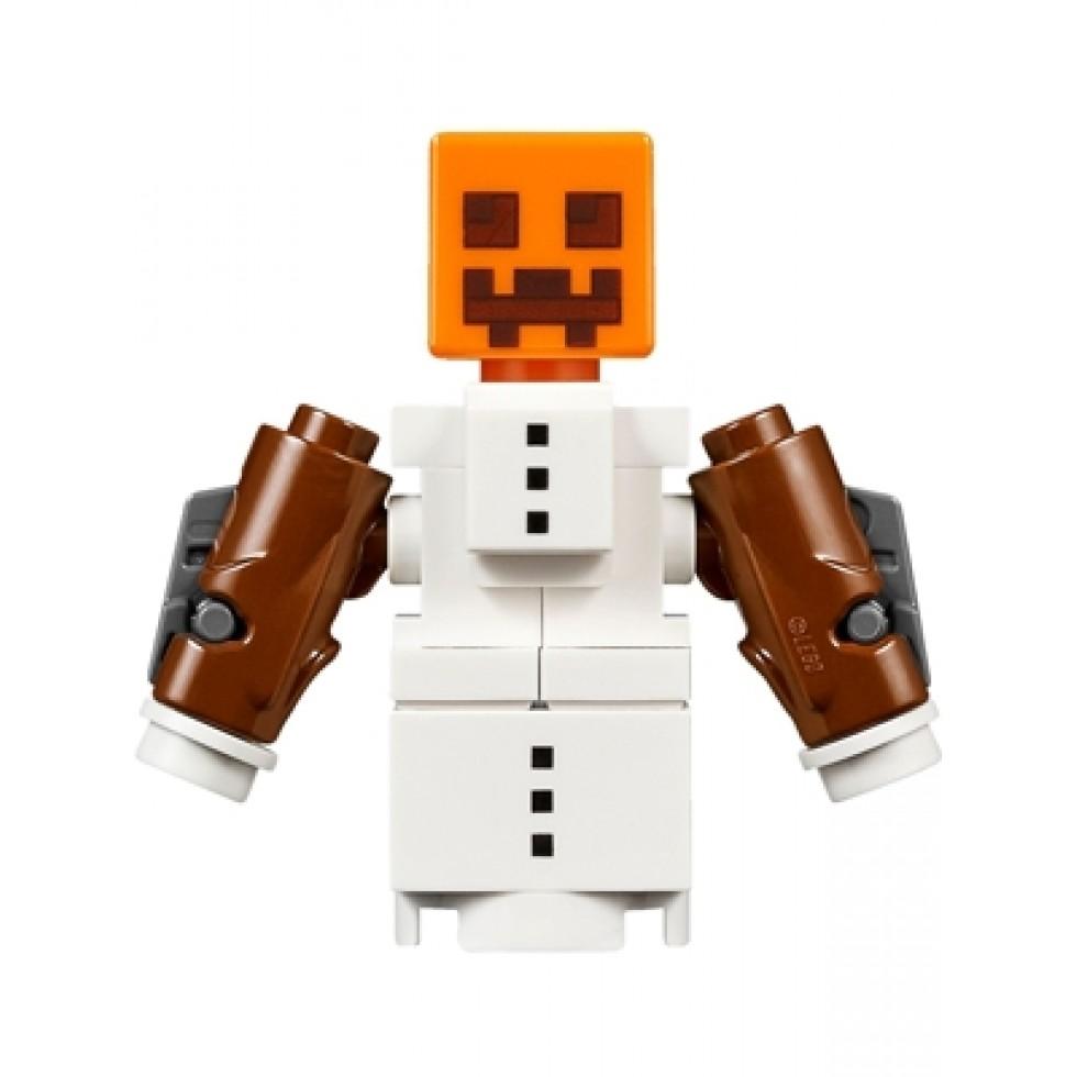 Lego Minifig Minecraft Snow Golem