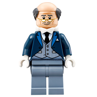 LEGO MINIFIG SUPER HEROE Alfred Pennyworth - Gilet à fines rayures