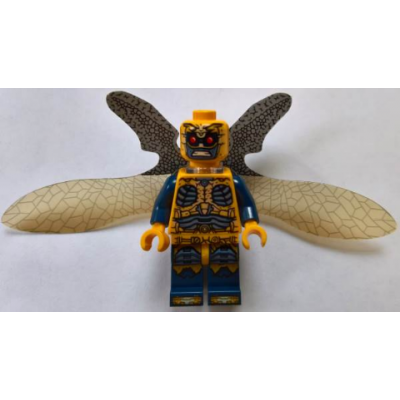 LEGO MINIFIG SUPER HEROE Parademon - Orange Clair, Ailes Allongées