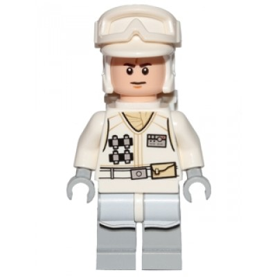 LEGO MINIFIG STAR WARS Hoth Rebel Trooper White Uniform 2