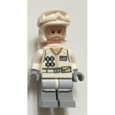 LEGO MINIFIG STAR WARS Hoth Rebel Trooper White Uniform 3