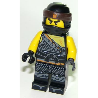 LEGO MINIFIG NINJAGO Cole - symbole asiatique orange sur Bandana