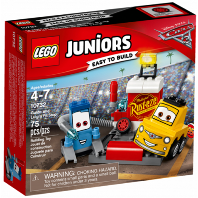 LEGO JUNIORS Leposte de revitaillement de Guido et Luigi 2017