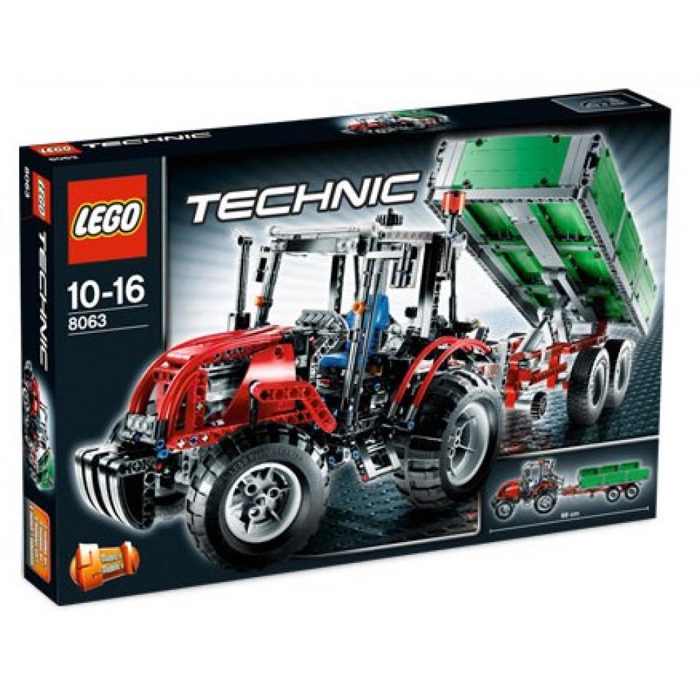 lego technic tracteur avec remorque 2009. Black Bedroom Furniture Sets. Home Design Ideas