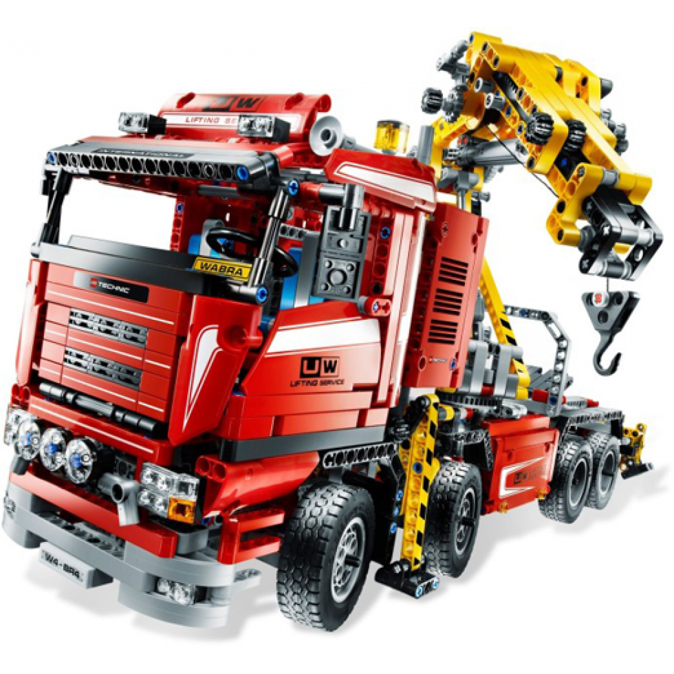 lego technic camion grue 2009. Black Bedroom Furniture Sets. Home Design Ideas