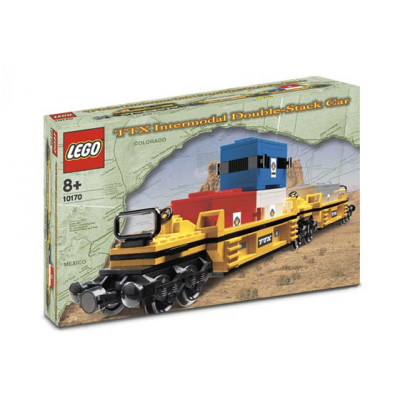 LEGO TRAIN Wagon double plate-forme 2005
