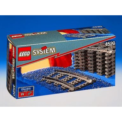 LEGO TRAIN Rails courbées 9V 1991